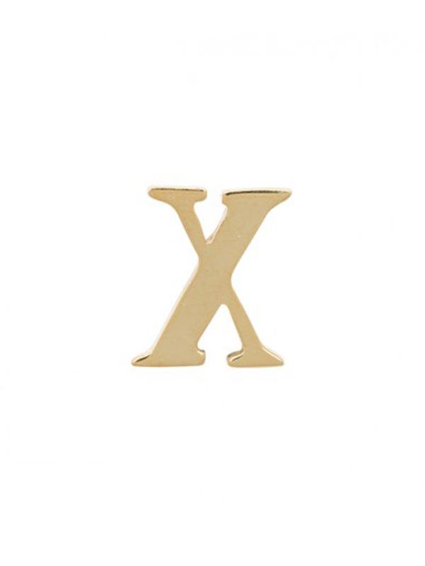 BROOCH INITIAL X