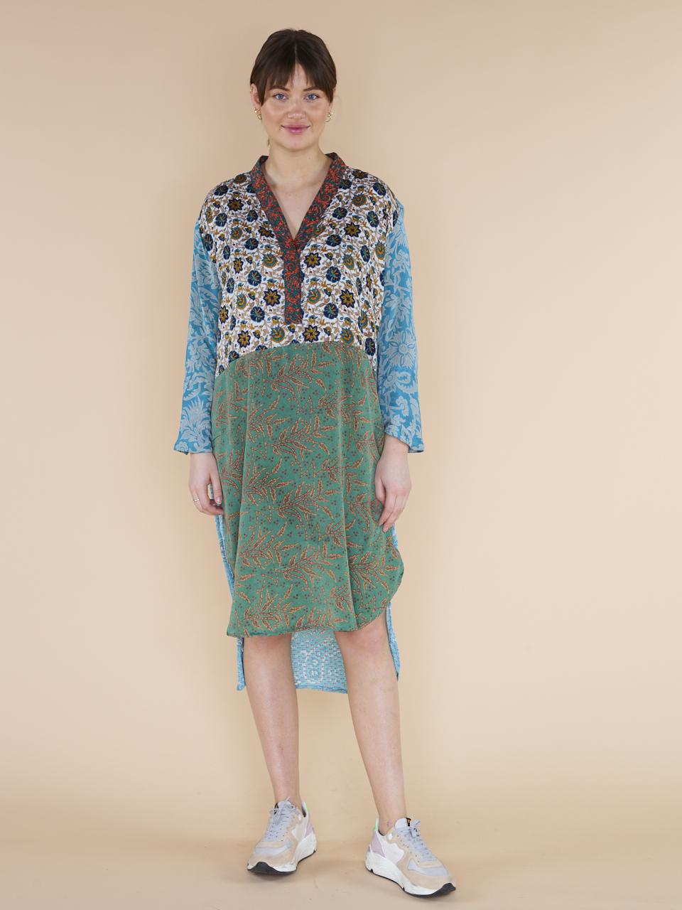 CAFTAN DRESS FLEUR DE LIS MIX