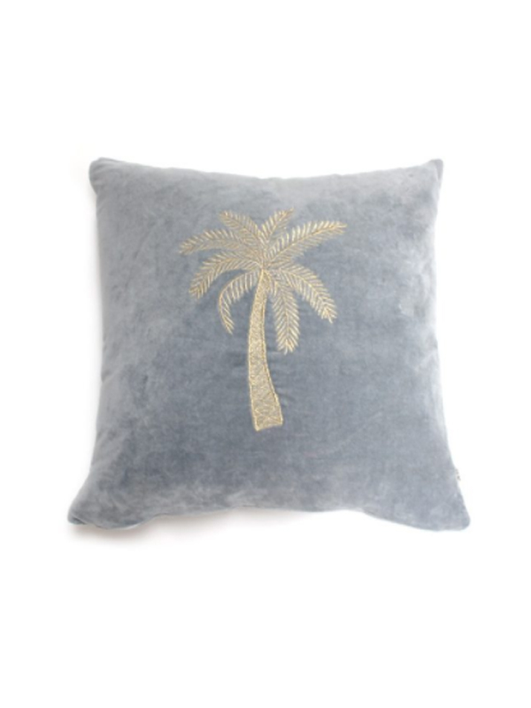 CUSHION PALMTREE VELVET
