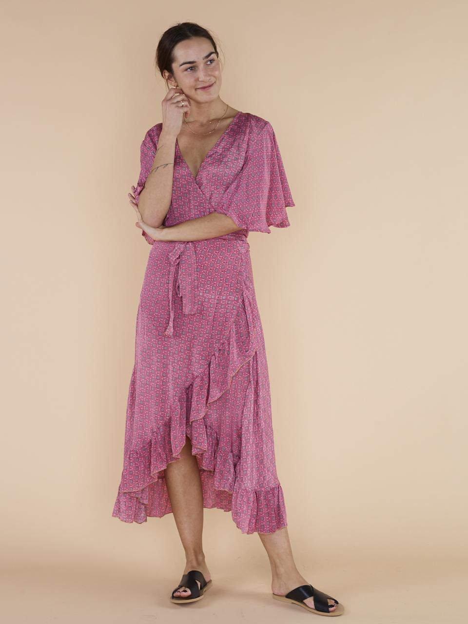 DRESS HARRIET WRAP