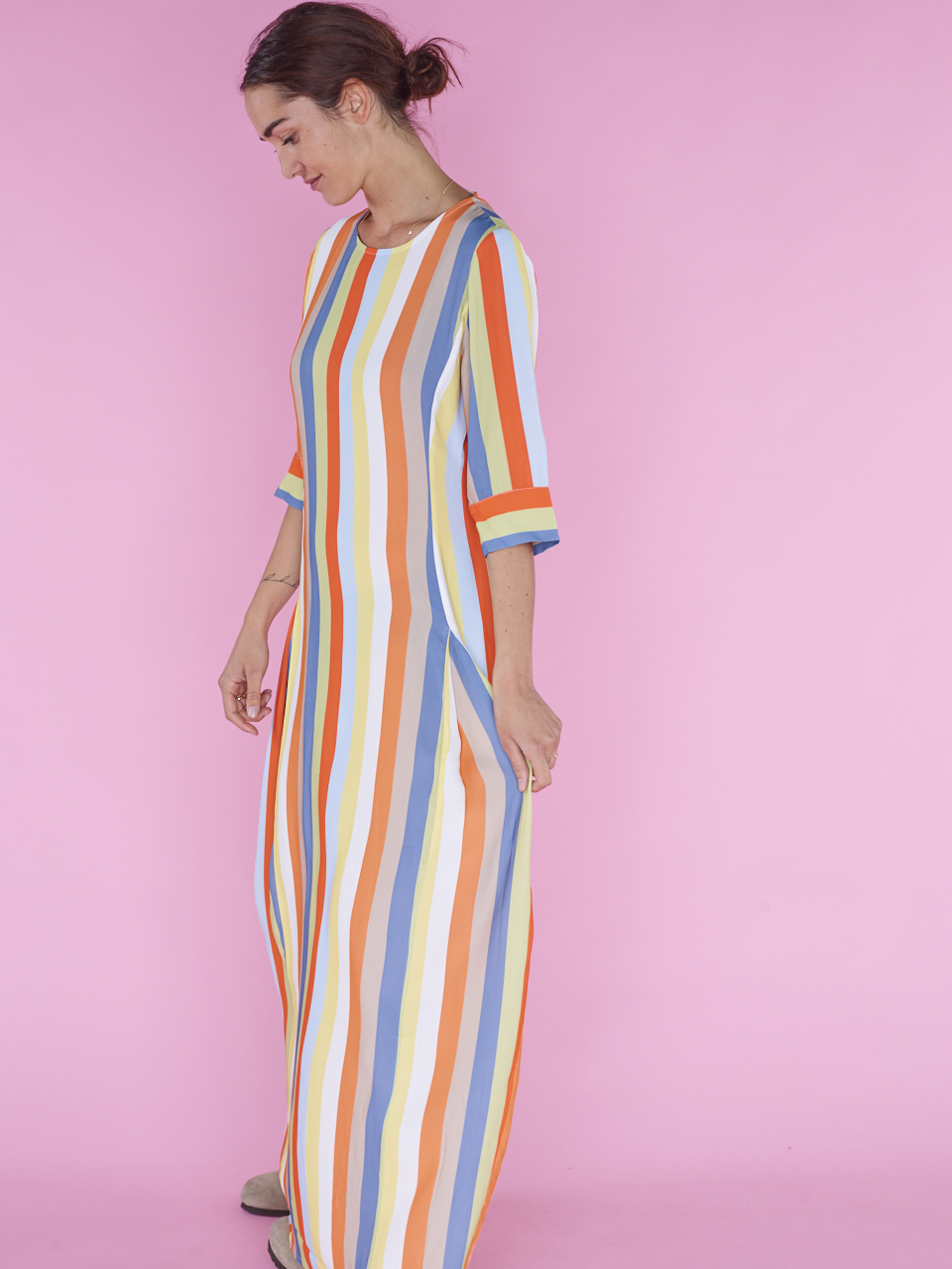 DRESS PHOENIX STRIPE