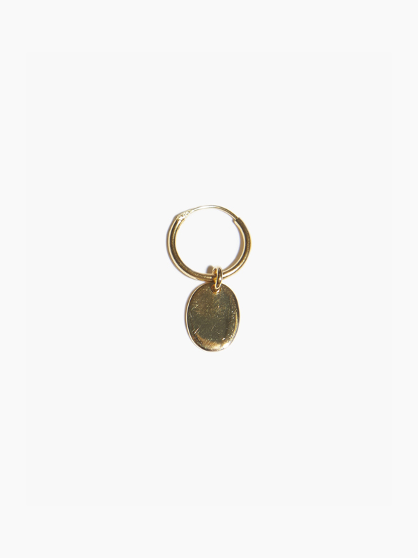 EARRING BRAQUE TAG HOOP