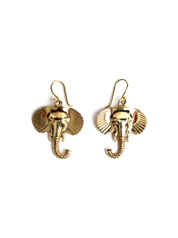 EARRING ELEPHANT HEAD