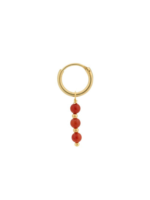 EARRING SINGLE CORAL