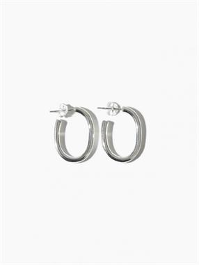 EARRING THICK OVAL HOOP 25MM