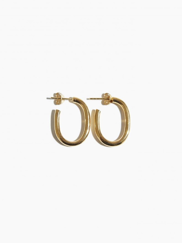 EARRING THICK OVAL HOOP