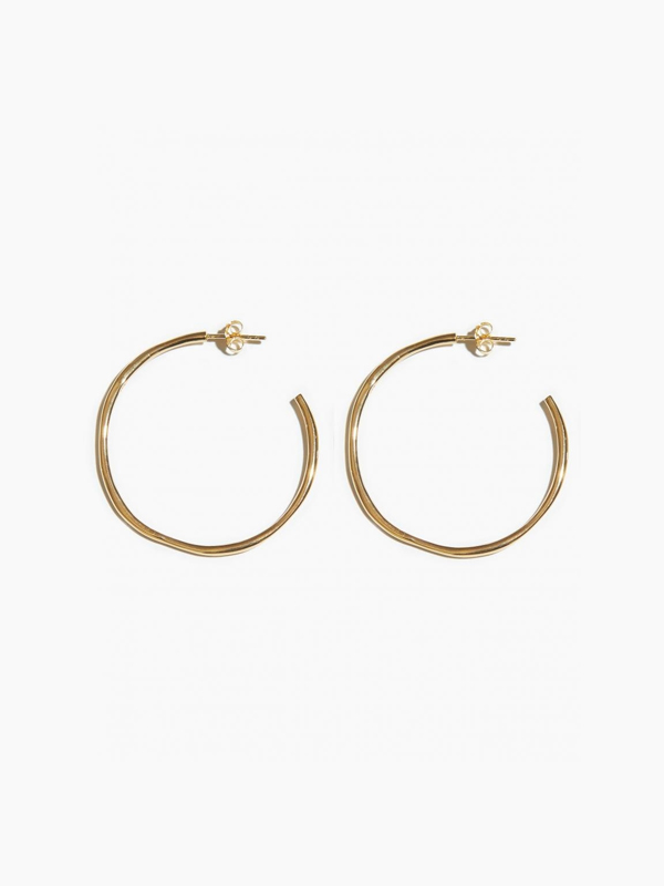 EARRINGS ORGANIC OPEN HOOP 40MM