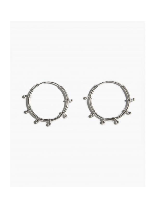 EARRINGS RIVER HOOP 25MM