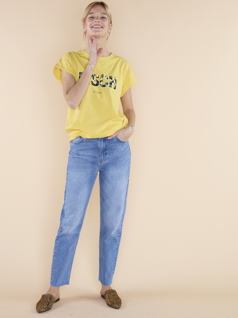 JEANS CRYSTAL MOM