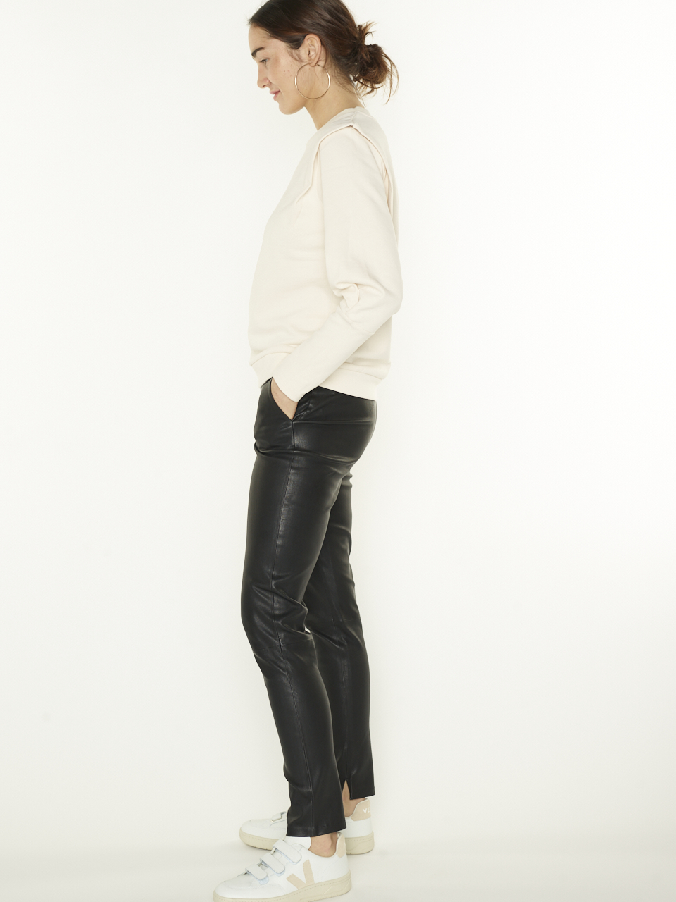 LEATHER PANTS LEBON