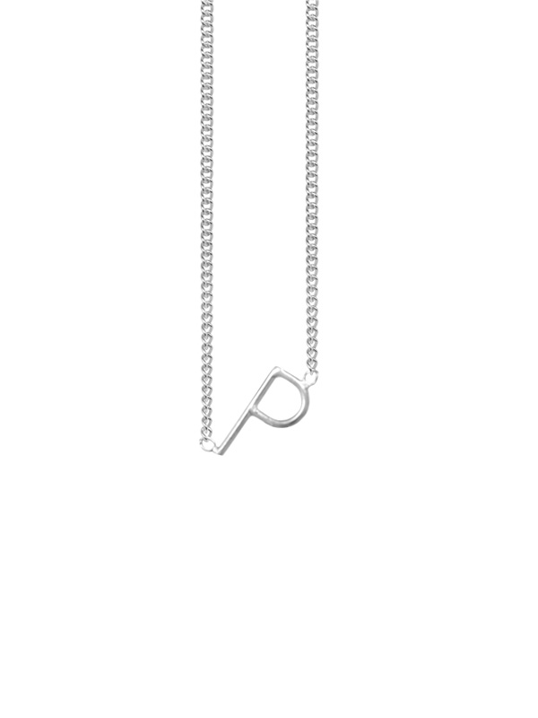 NECKLACE INITIAL LETTER P