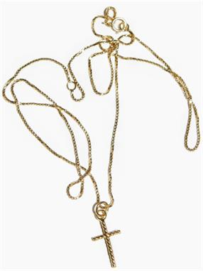 NECKLACE OBLIQUE CROSS