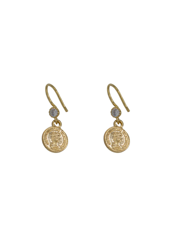 PAIR OF EARRINGS COIN DIAMOND