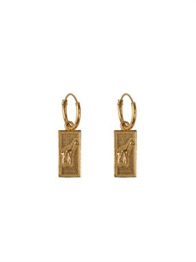 PAIR OF EARRINGS GIRAFFE SQUARE