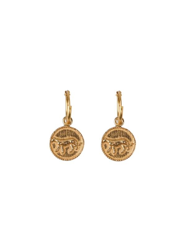 PAIR OF EARRINGS SMALL LEOPARD COIN