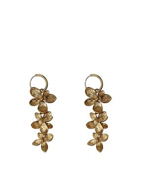 PAIR OF EARRINGS THREE FLOWERS