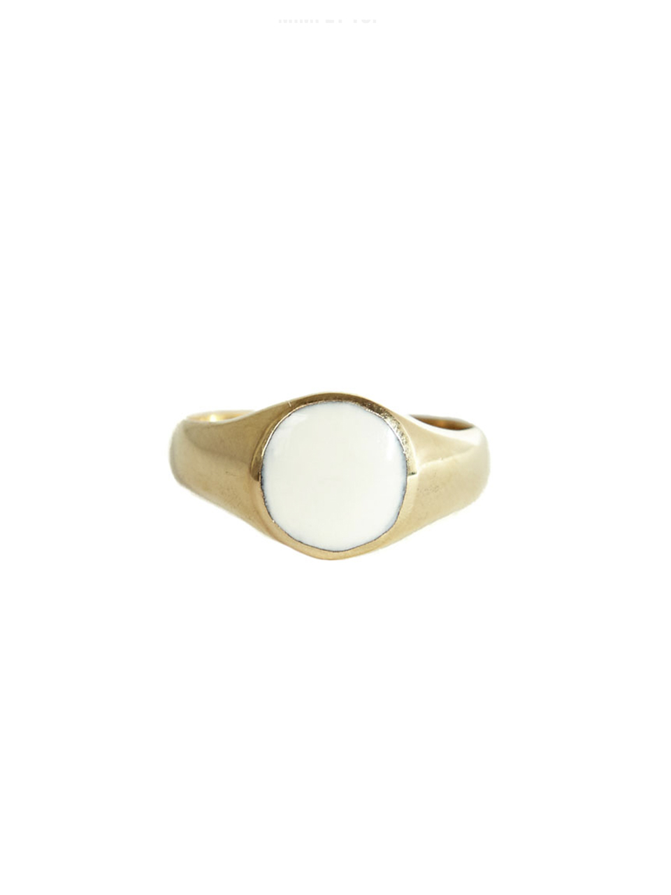 RING SIGNET RESIN WHITE