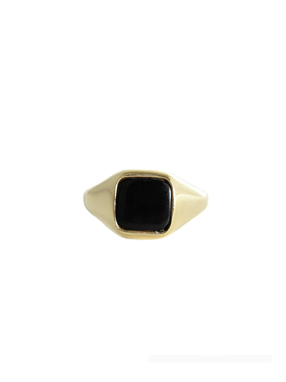 RING SIGNET SQUARE ONYX BLACK