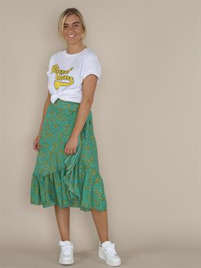 SKIRT SENSES MIDI WRAP