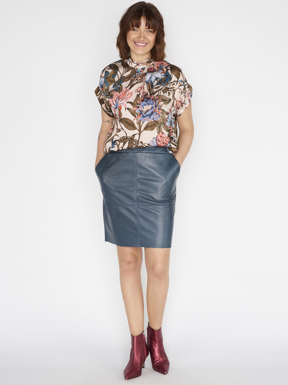 SKIRT STACI LEATHER