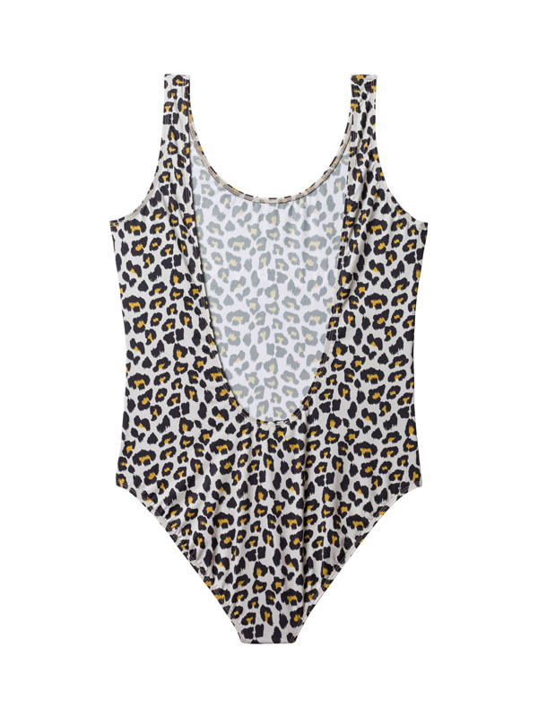 SWIMSUIT YOGA LEOPARD