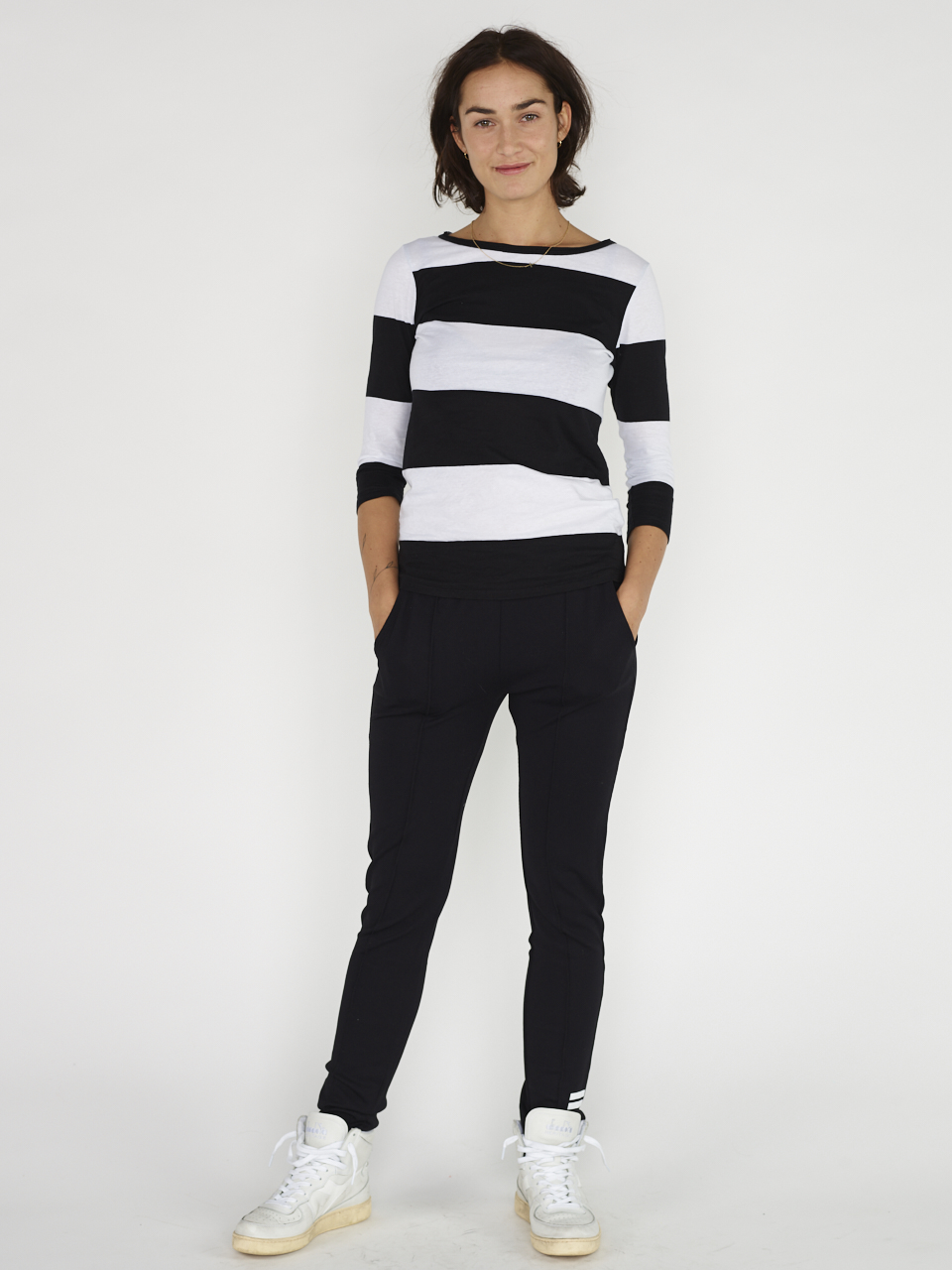 TEE 3/4 SLEEVE BIG STRIPE