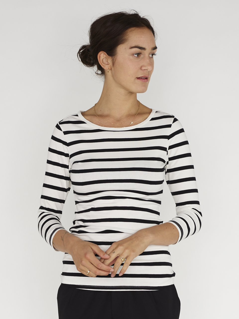 TEE 3/4 SLEEVE STRIPE