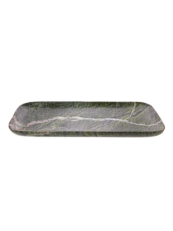 TRAY GREEN MARBLE