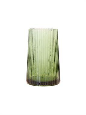 VASE GREEN GLASS M